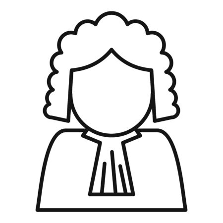 Judge avatar icon, outline style