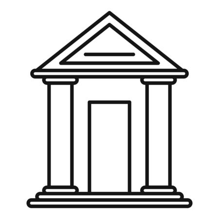 Judge building icon, outline style