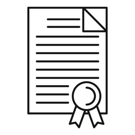 Judge diploma icon, outline style