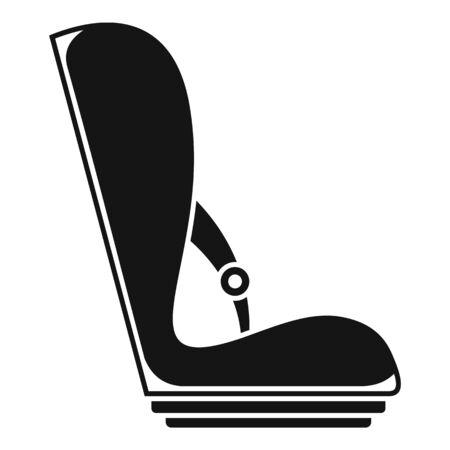 Baby car seat icon, simple style