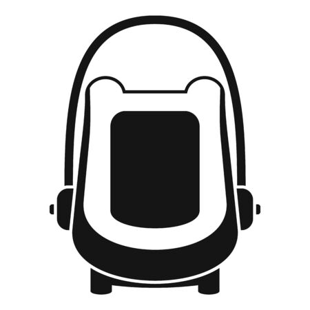 Baby car seat booster icon, simple style Иллюстрация