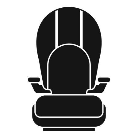 Isofix kid car seat icon, simple style
