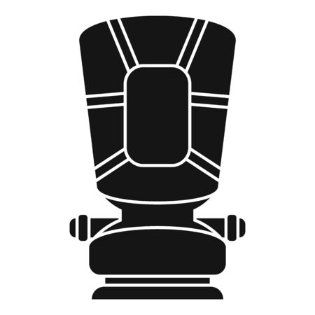 Restraint baby car seat icon, simple style