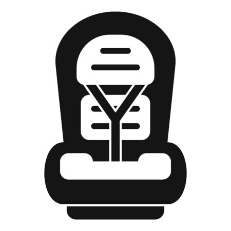 Family baby car seat icon, simple style