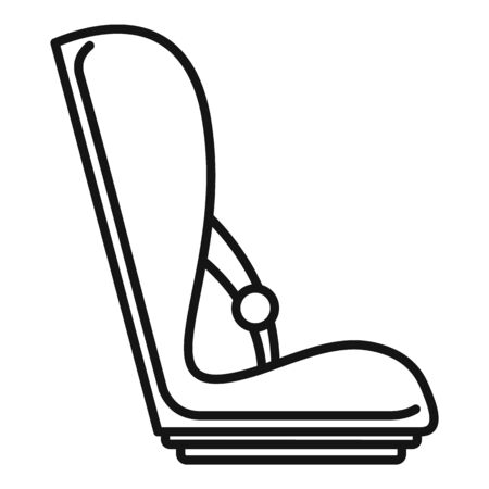 Baby car seat icon, outline style
