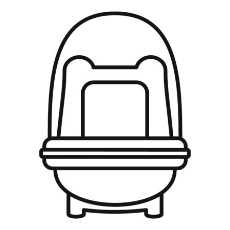 Baby car seat booster icon, outline style
