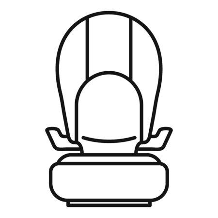 Isofix kid car seat icon, outline style