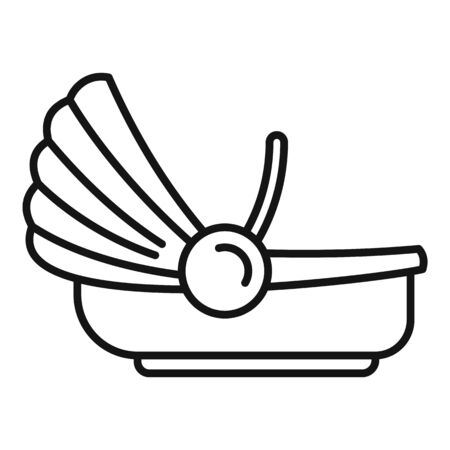 Travel car baby seat icon, outline style