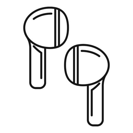 Studio wireless earbuds icon, outline style