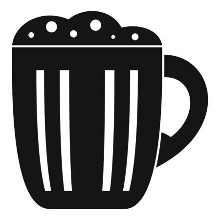 Mug kvass icon, simple style Ilustrace