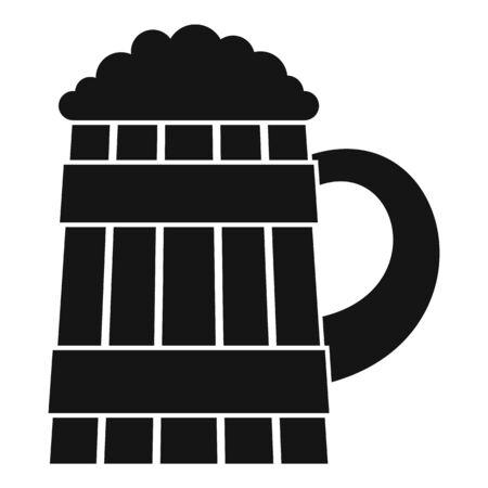 Pint kvass icon, simple style Ilustrace