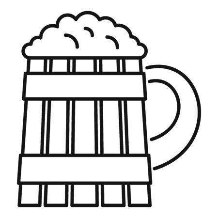 Pint kvass icon, outline style