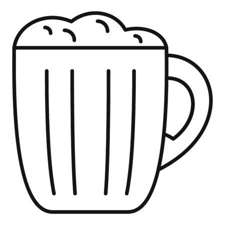 Mug kvass icon, outline style
