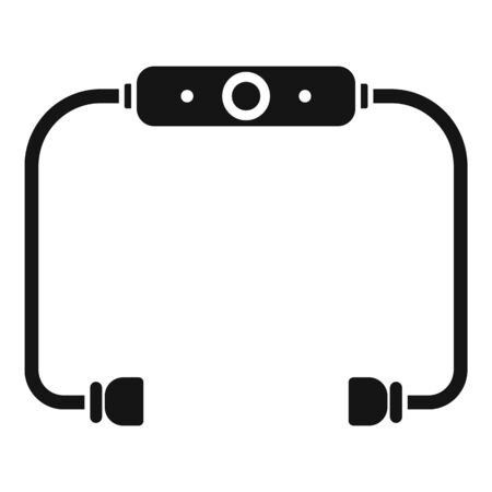 earbuds icon, simple style