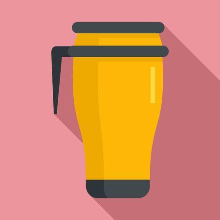 Metal vacuum cup icon, flat style Vecteurs