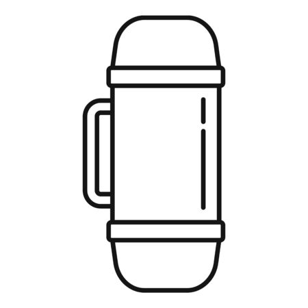 Home insulated bottle icon, outline style 일러스트