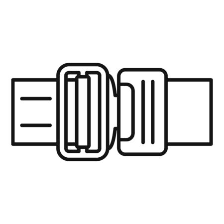 Seatbelt icon, outline style Vectores