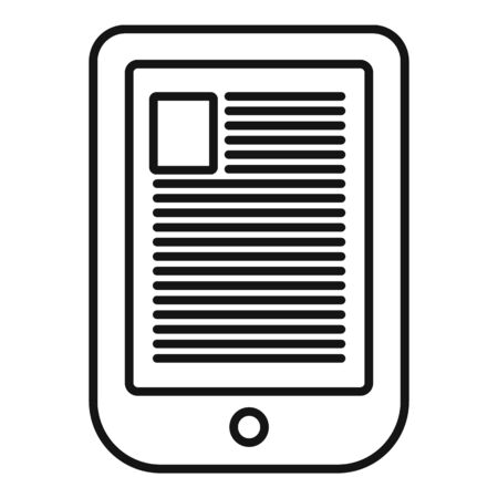 Digital ebook icon, outline style
