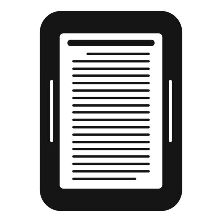 Ebook device icon, simple style