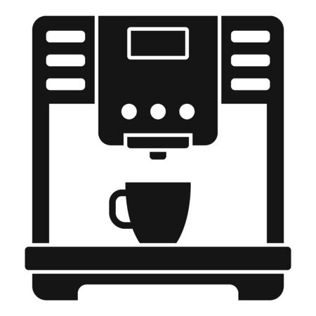 Americano coffee machine icon, simple style Vector Illustratie