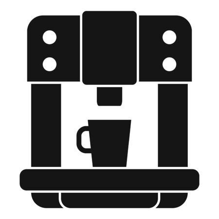 Commercial coffee machine icon, simple style Ilustração