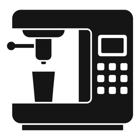 Steam coffee machine icon, simple style Illustration