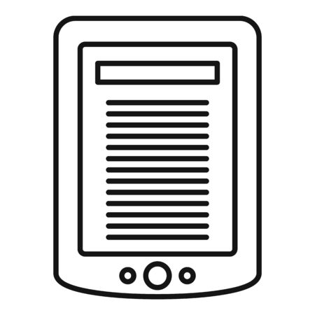 Ebook tablet icon, outline style