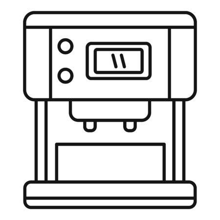 Steam coffee machine icon, outline style