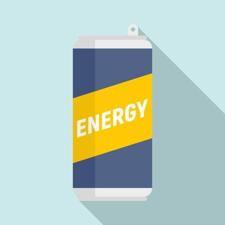 Sport energy drink icon. Flat illustration of sport energy drink vector icon for web design