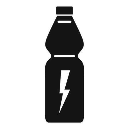 Energy drink bottle icon, simple style Stock Illustratie
