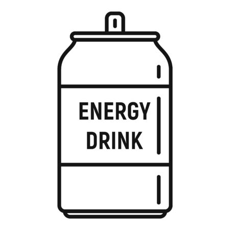 Boost energy drink icon, outline style