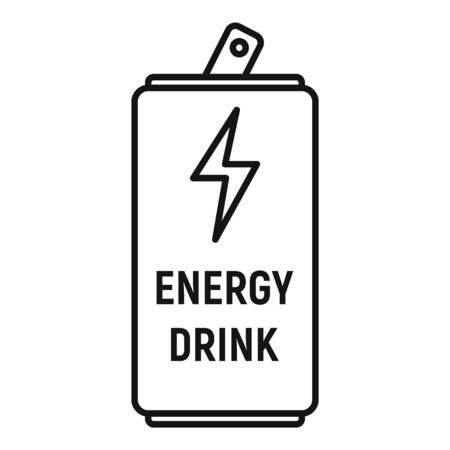 Energy drink bottle icon, outline style Stock Illustratie