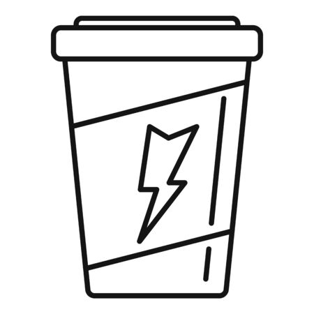 Coffee energy drink icon, outline style