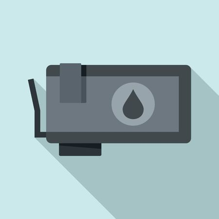 Ink cartridge icon, flat style Ilustrace