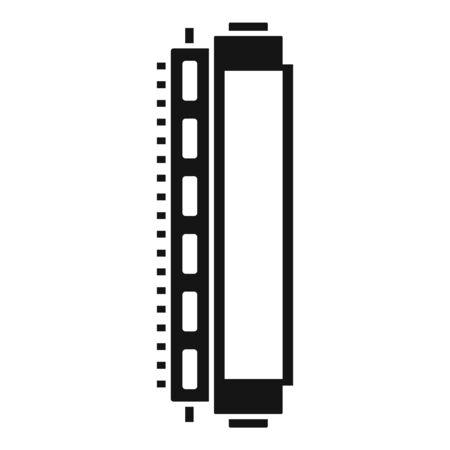 Toner cartridge icon. Simple illustration of toner cartridge vector icon for web design isolated on white background