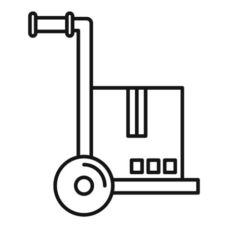 Warehouse cart icon, outline style