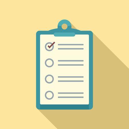 Inventory checkboard icon. Flat illustration of inventory checkboard vector icon for web design