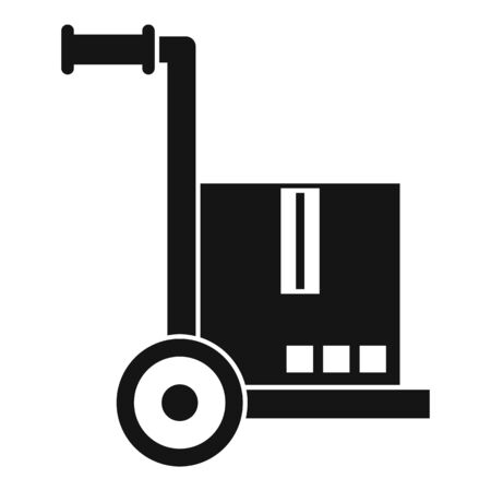 Warehouse cart icon, simple style