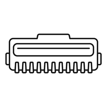 Laser cartridge icon, outline style