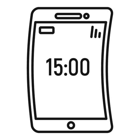 Foldable device icon, outline style  イラスト・ベクター素材
