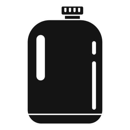 Plastic cleaner bottle icon, simple style