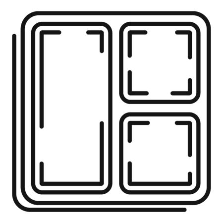 Food box icon, outline style