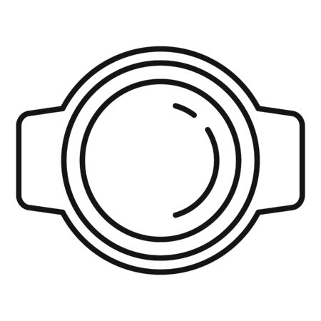 Party plastic cup icon, outline style