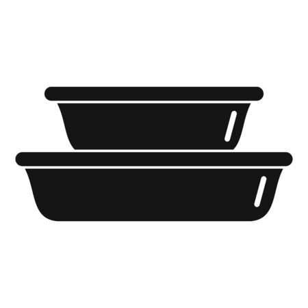 Plastic dishes icon, simple style