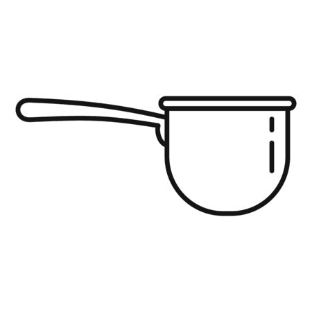 Plastic tableware icon, outline style