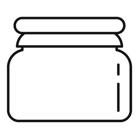 Plastic jar icon. Outline plastic jar vector icon for web design isolated on white background