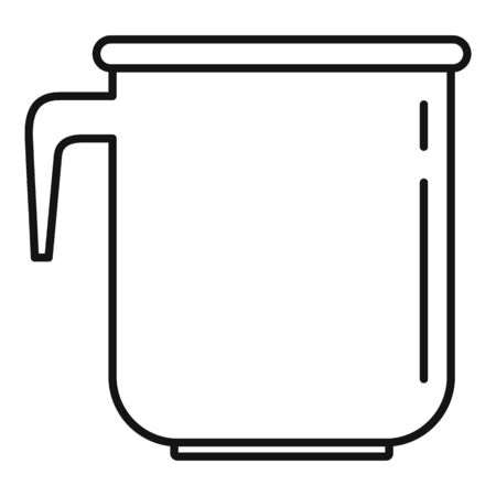 Plastic thermo cup icon, outline style  イラスト・ベクター素材