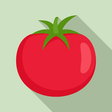 Raw tomato icon, flat style Иллюстрация