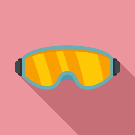 Ski glasses icon. Flat illustration of ski glasses vector icon for web design Ilustração