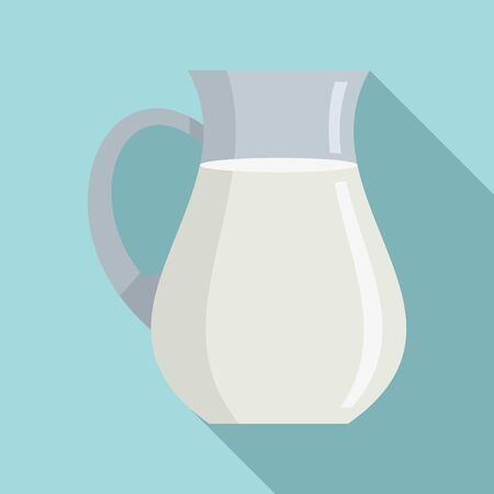 Swiss milk jug icon. Flat illustration of swiss milk jug vector icon for web design 矢量图像